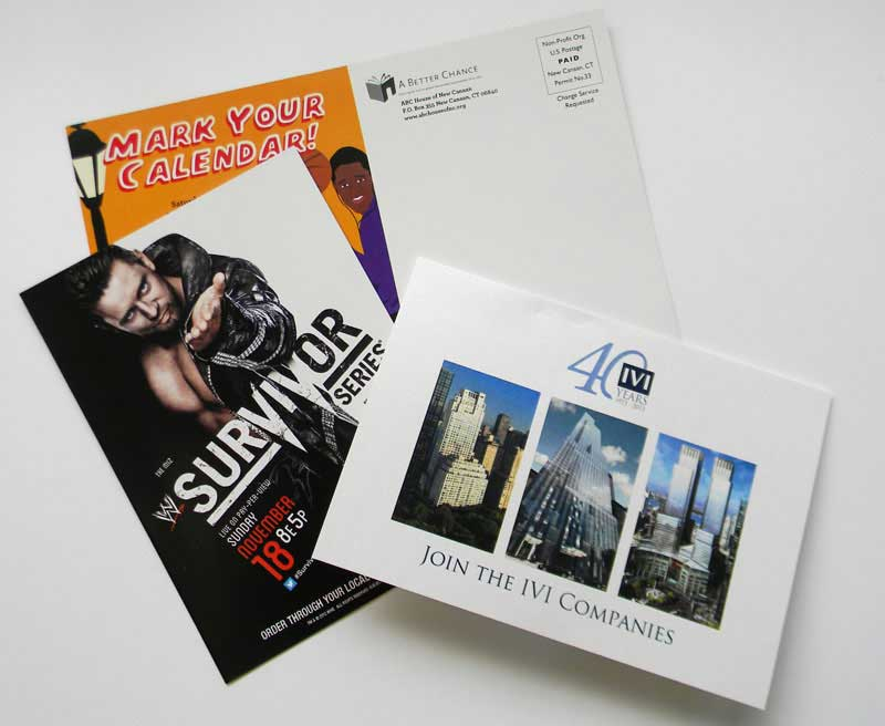 postcards printing done by Rapid Press Stamford CT