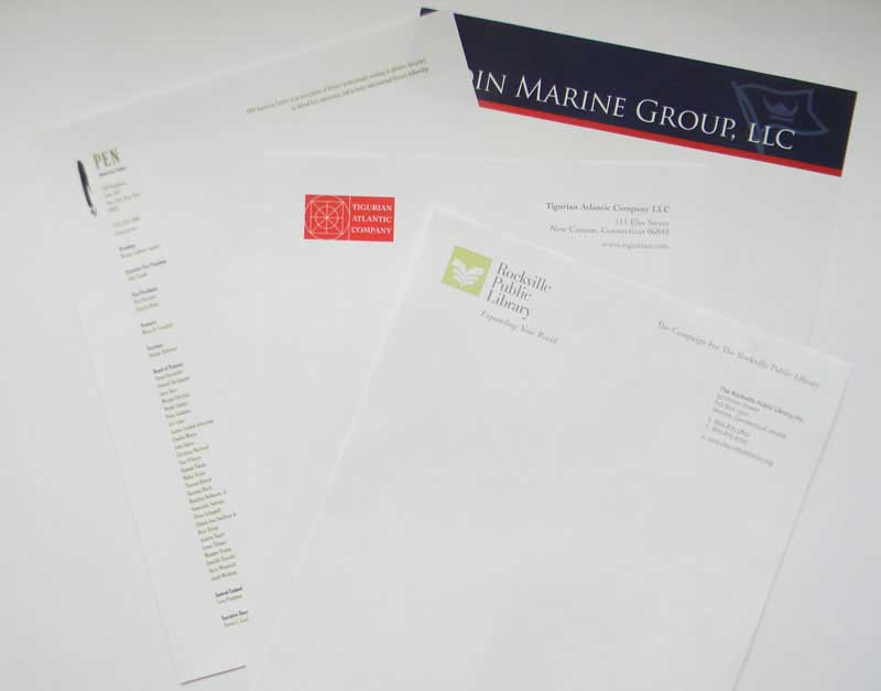 color letterhead printed at Rapid Press