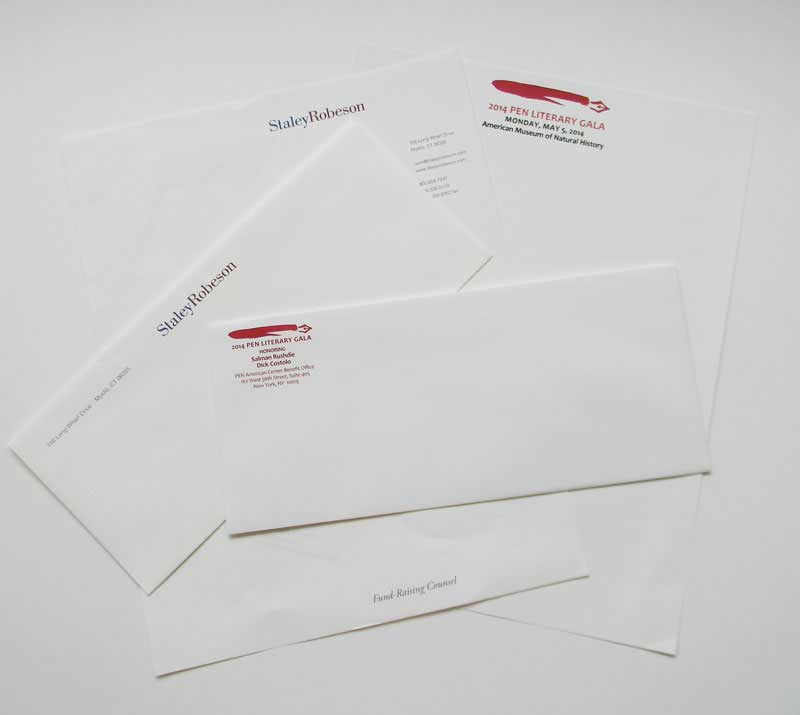 stationery printed by Rapid Press in Stamford